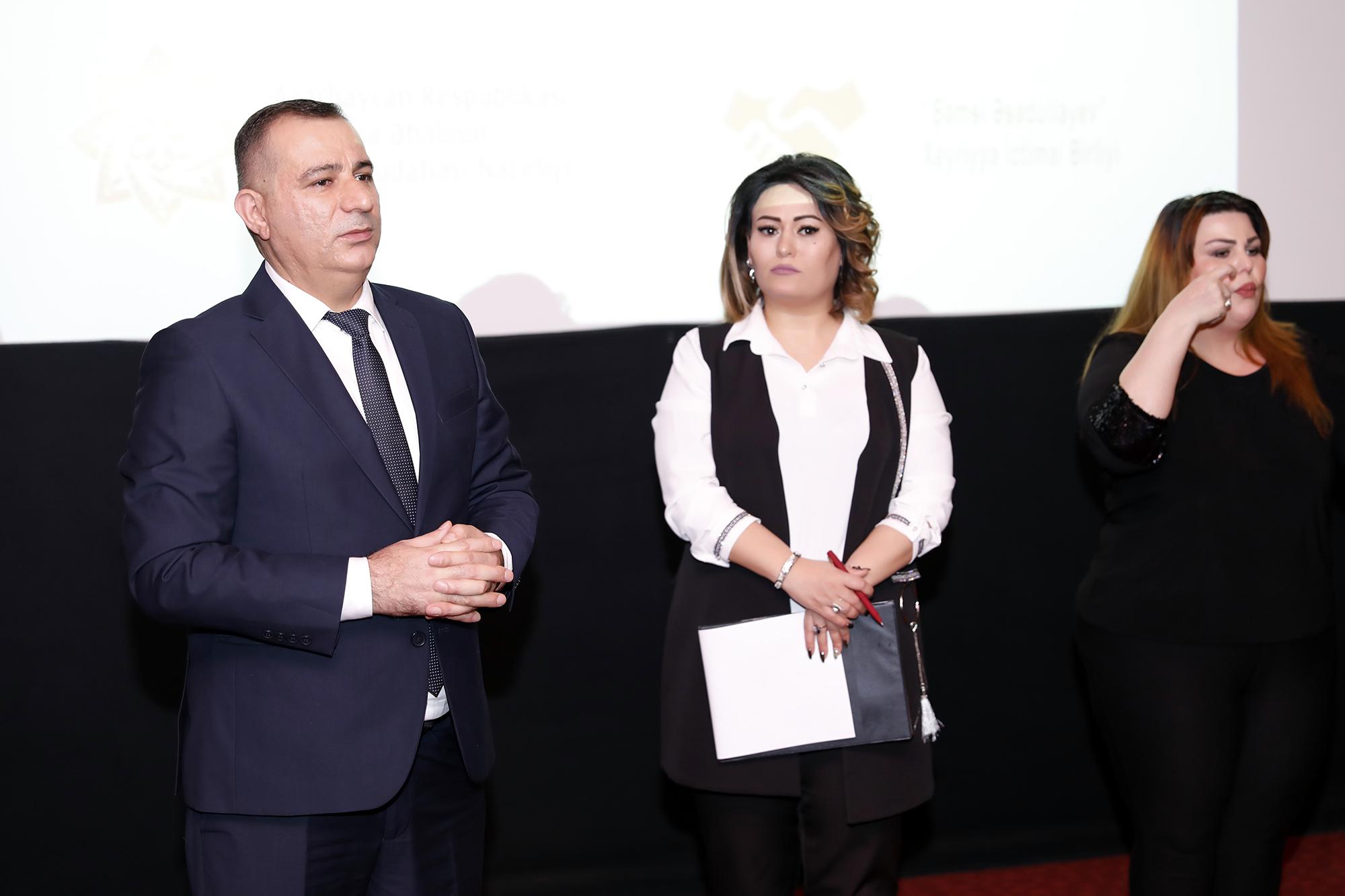 Cizgi filmi və 6 informasiya bülleteninin surdotərcümə formatında təqdimat mərasimi keçirilib – Fotolar