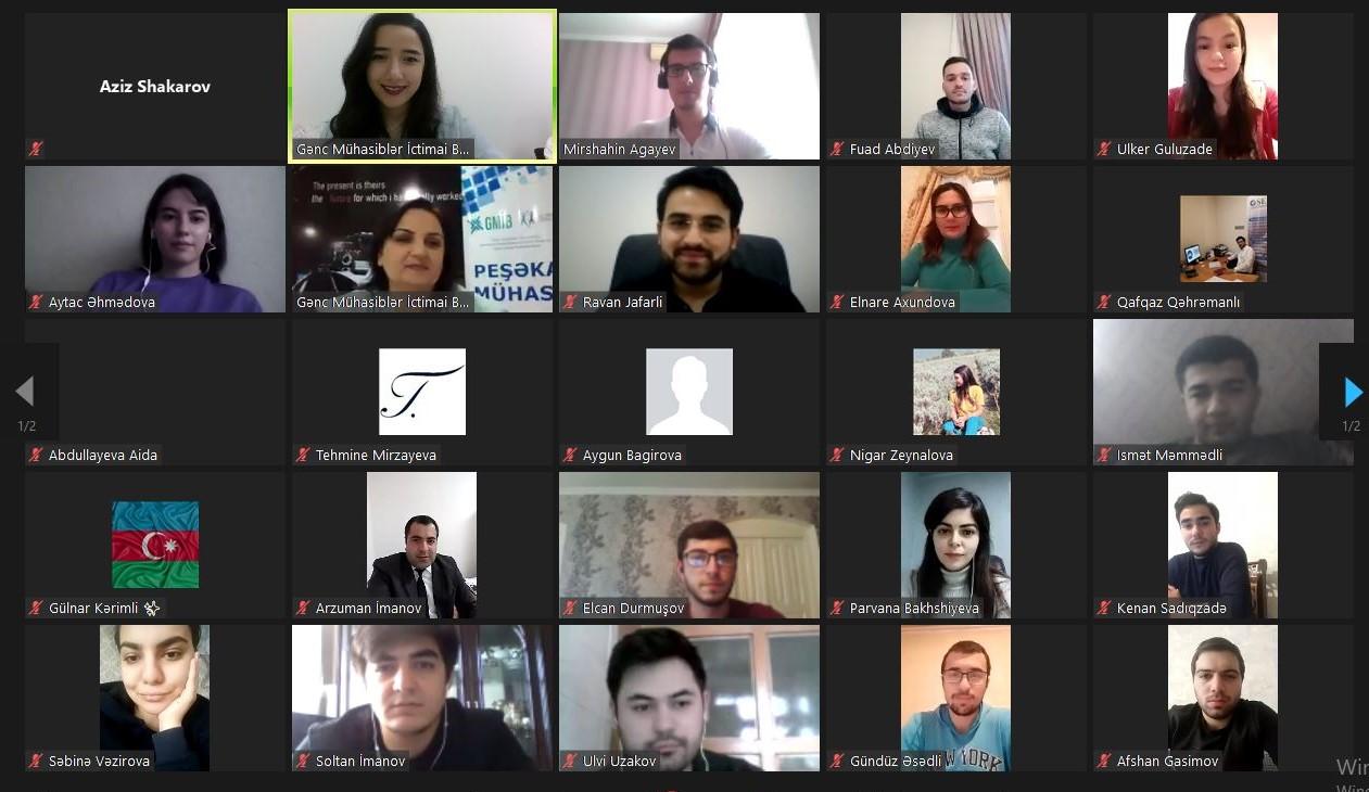 """""""Peşəkar Mühasib"""" layihəsi çərçivəsində Bakıdan olan iştirakçılara ikinci təlim keçirilib"""